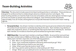 SAMPLE TEAM-BUILDING ACTIVITIES